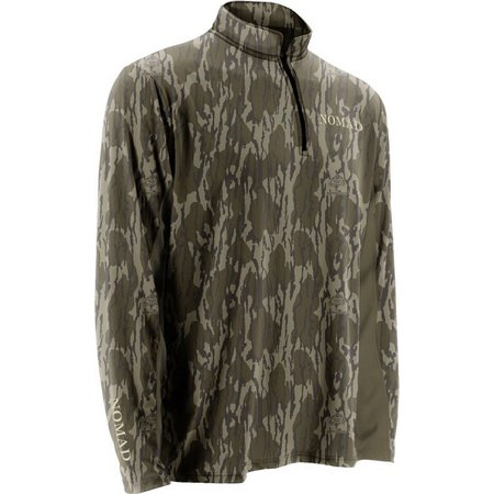 Nomad Mens Mossy Oak Bottomland 1/4 Zip Sweater