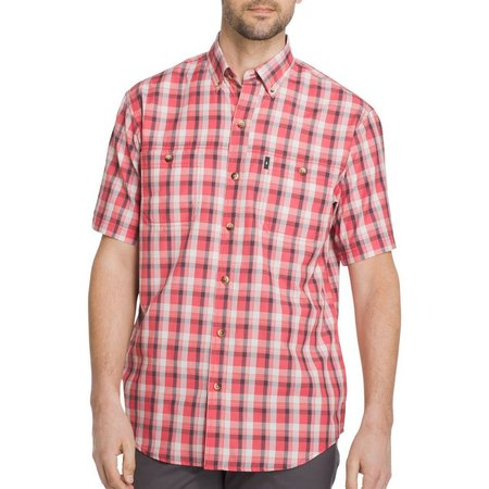 G.H. Bass Mens Short Sleeve Explorer Plaid Shirt