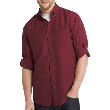 G.H. Bass Mens Long Sleeve Solid Explorer Shirt