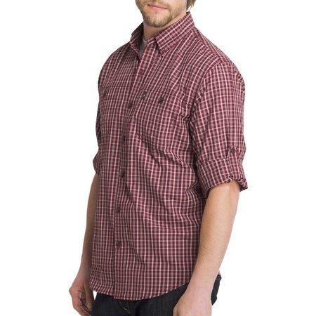 G.H. Bass Mens Plaid Explorer Long Sleeve Shirt