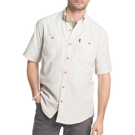 G.H. Bass Mens Solid Short Sleeve Explorer Shirt