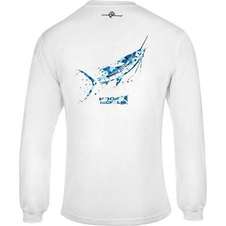 Hook and Tackle Mens Blue Camo Sailfish T-Shirt