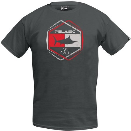 PELAGIC Mens Grey Atomic Logo T-Shirt