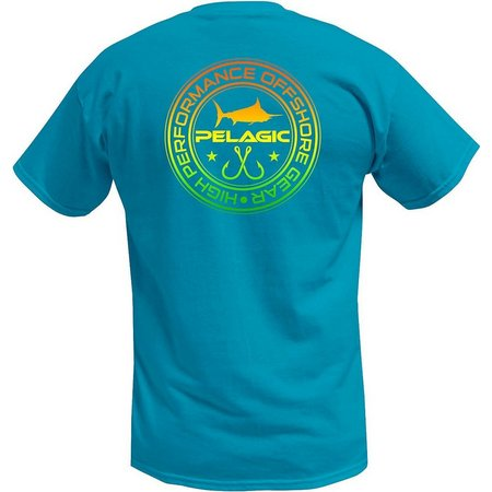 PELAGIC Mens Aqua Double Hookup T-Shirt