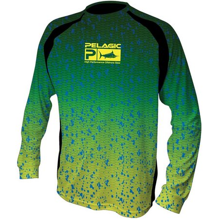 PELAGIC Mens Dorado Long Sleeve Vaportek Shirt