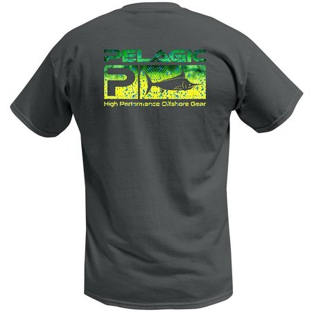 PELAGIC Mens Dorado Green Deluxe Logo T-Shirt