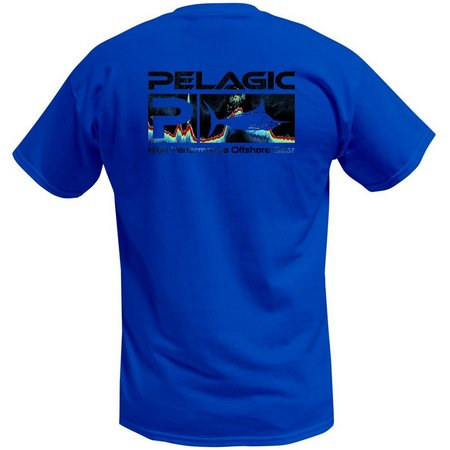 PELAGIC Mens Fishfinder Deluxe Logo T-Shirt