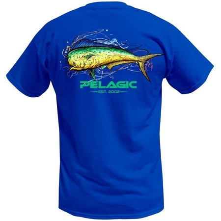 New! PELAGIC Mens Short Sleeve Dorado Splash T-Shirt