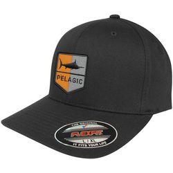 PELAGIC Mens Shield Logo Flexfit Hat