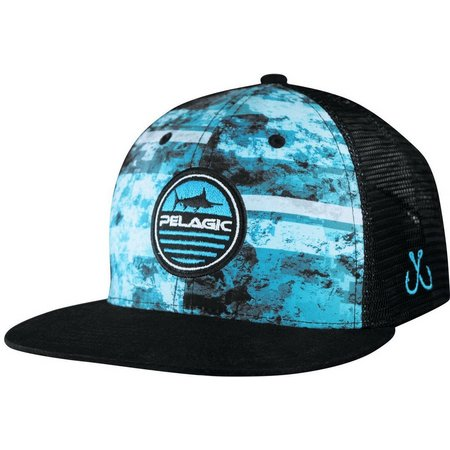 PELAGIC Mens Aquatic Snapback Hat