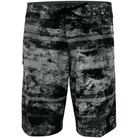 PELAGIC Mens Argonaut Coral Camo Black Boardshorts
