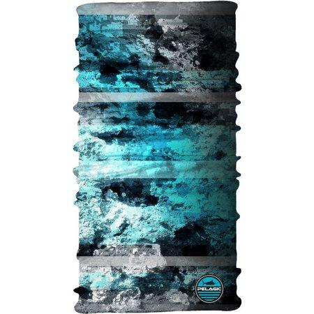 PELAGIC Mens SPF Coral Camo Blue Sunshield