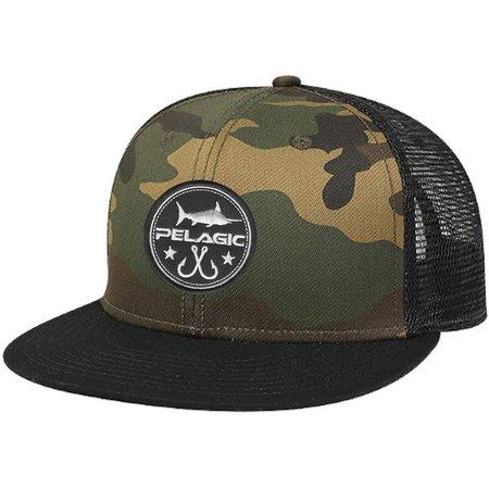 PELAGIC Mens Circle Patch Trucker Hat