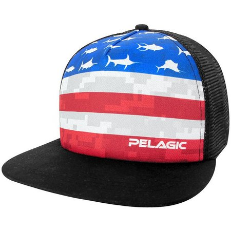 PELAGIC Mens Americamo Trucker Hat