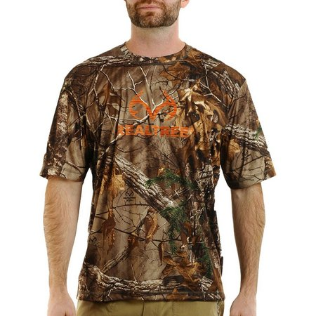 Realtree Mens Camo Stripe Logo T-Shirt