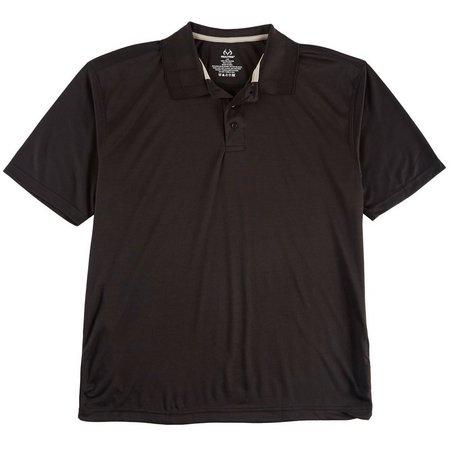 Realtree Mens Solid Polo Shirt