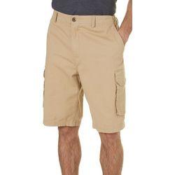 Margaritaville Mens Khaki Twill Cargo Shorts