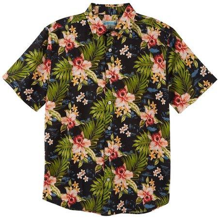 Margaritaville Mens Hibiscus Palms Shirt