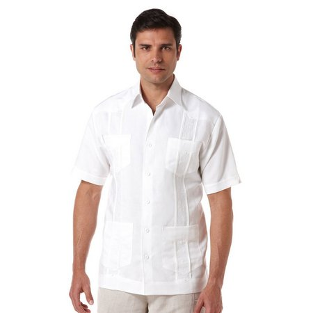 Cubavera Button Flap Pockets Embroidered Shirt