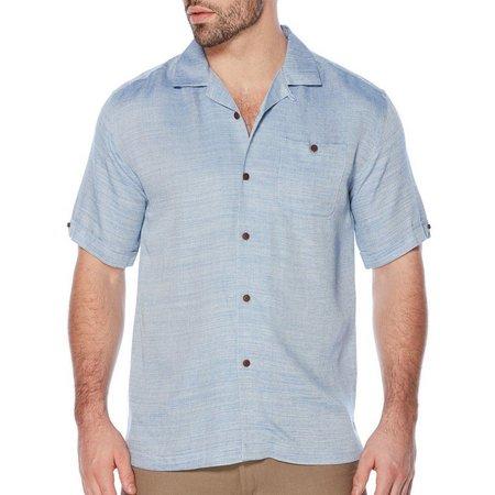 Cubavera Mens Two Tone Rayon Pocket Shirt