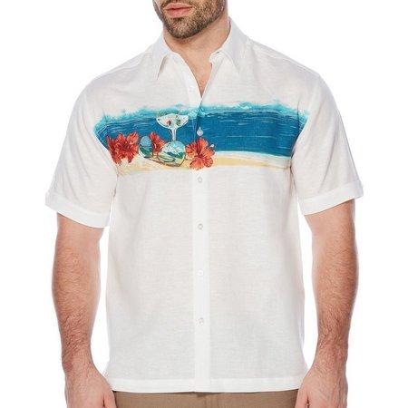 Cubavera Mens Ocean Band Shirt
