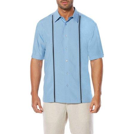 Cubavera Mens Big & Tall Contrast Stitching Shirt