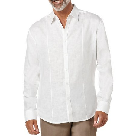 Cubavera Mens Long Sleeve Linen Shirt