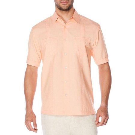 Cubavera Mens Chambray Two Pocket Woven Shirt