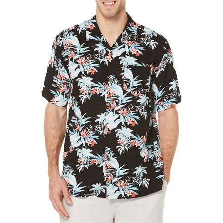 Cubavera Mens Dark Retro Tropical Shirt
