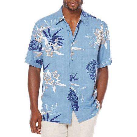 Cubavera Mens Floral Leaf Print Shirt