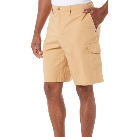 Caribbean Joe Mens Stretch Poplin Cargo Shorts