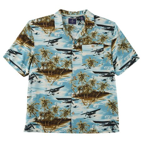 Caribbean Joe Mens Island Hops Short Sleeve Shirt