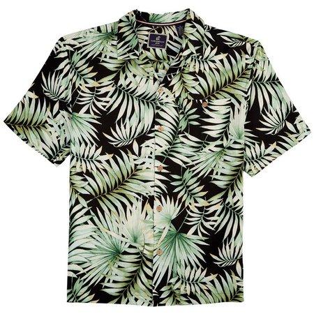 Caribbean Joe Mens Green Fern Breeze Shirt