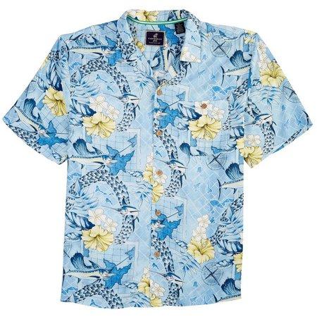 Caribbean Joe Mens Ocean View Shirt