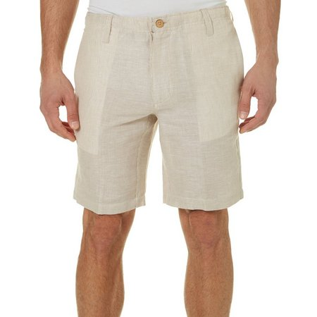 Caribbean Joe Mens Sand Stripe Elastic Shorts