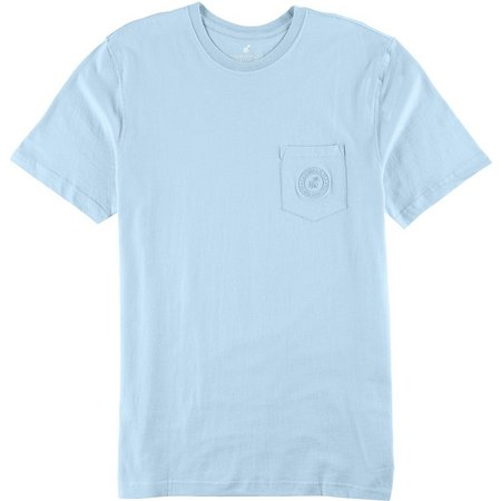 Caribbean Joe Mens Pocket Crew T-Shirt