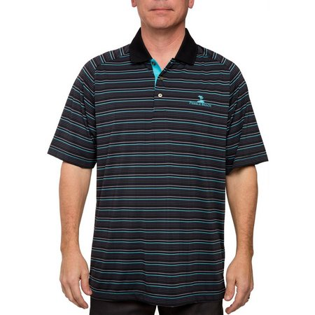 Pebble Beach Mens Stripe Performance Polo Shirt