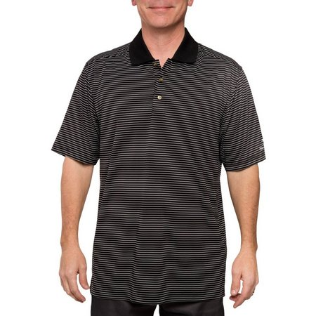 Pebble Beach Mens Light Stripe Short Sleeve Polo