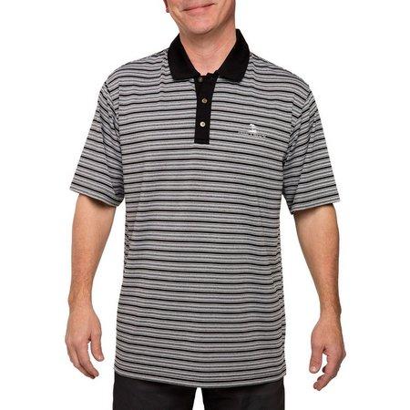 Pebble Beach Mens Space Dye Stripe Polo Shirt