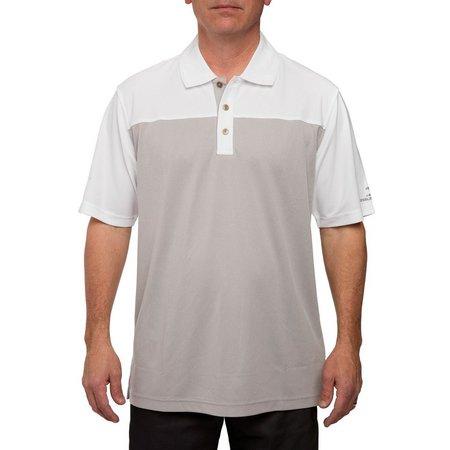 Pebble Beach Mens Colorblock Birdseye Pique Polo Shirt