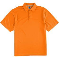 Golf America Mens Solid Ottoman Polo Shirt