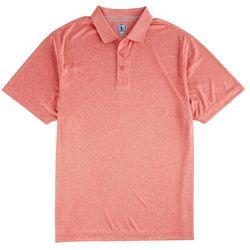 Golf America Mens Heather Space Dye Polo Shirt