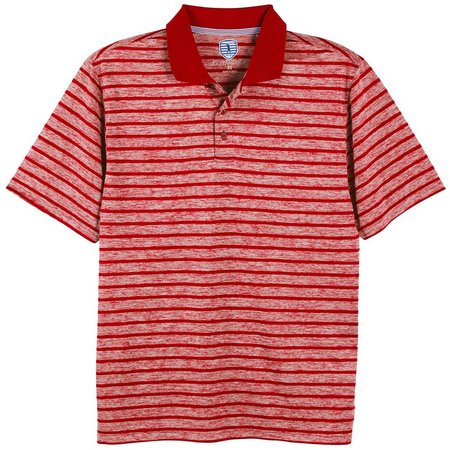 Golf America Mens Stripe Space Dye Polo Shirt