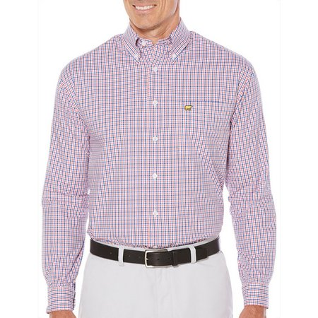 Jack Nicklaus Mens Olympia Plaid Long Sleeve Shirt