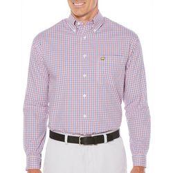 Jack Nicklaus Mens Olympia Plaid Long Sleeve Shirt