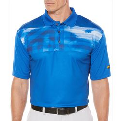 Jack Nicklaus Mens Chest Print Polo Shirt