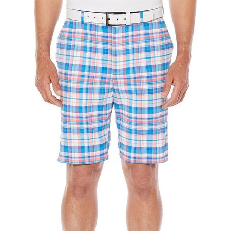 Jack Nicklaus Mens Madras Plaid Shorts