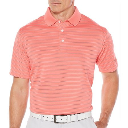Jack Nicklaus Mens 3 Color Stripe Polo Shirt