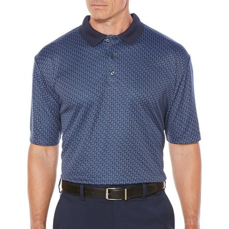 Jack Nicklaus Mens Mini Cube Polo Shirt