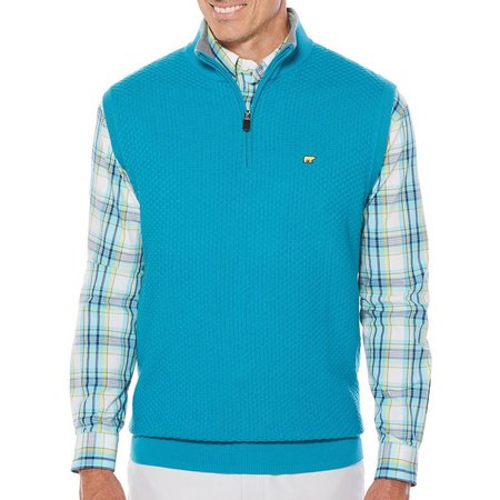 Jack Nicklaus Mens Textured Quarter Zip Sweater Vest